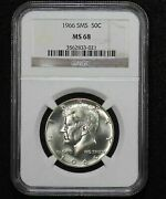 1966 Kennedy Half Dollar Ngc Ms-68 Special Mint Set Issue 09zl