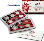 2005 S Us Silver Proof Set ☆☆ Great For Sets ☆☆ 11 Proof Coins ☆☆