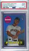 2018 Heritage High Number Hot Box Chrome Purple Refractor Austin Meadows Rookie