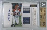 2011 Playoff National Treasures /15 Andy Dalton 3 Bgs 9.5 Rpa Rookie Patch Auto