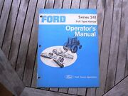 Ford Tractor 241 Pull Type Harrow Owner Operator Manual Instruction Guide Book