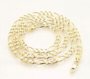 4.5mm Classic Royal Figaro Chain Necklace Real Solid 10k Yellow Gold All Sizes