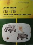 John Deere 110 112 Lawn Garden Tractor And 31 Tiller Owner And Parts 3 Manual S