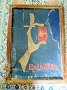 Antique Red And White Cigarettes By Marcovitch Paper Advertising Sign Framed Poor