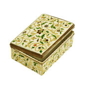 Rare French Antique 18th Ce Silver And Enamel Box