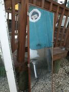 Marine Boat Wood Door With Mirror, Hook And Hinges  - Used