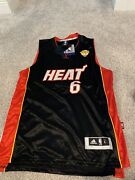 """Lebron James 6 Miami Heat """"the Finals"""" Basketball Jersey"""