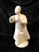 Nymphenburg Figurine Blanc De Chine Asian Man With Cup 8 Chinese Monk Ponytail