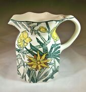Masons Ironstone And Co. Yellow Flowers 5-1/2 Tall Milk Or Juice Pitcher