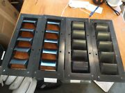 Boat Marine Louvered Slotted Vents 14 X 5 1/2 Black - Used