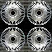 Cadillac Deville Machined W/ Silver Pockets 15 Oem Wheel Set 1989 To 1993