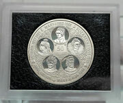 1975 Cayman Islands Uk Queens Elizabeth Victoria Mary Anne Silver 50 Coin I86069