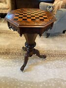 Stunning Antique Rosewood Victorian Ladie's Sewing Or Work Box Table