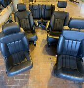 2006-2009 Mercedes R350 W251 Front 2nd 3rd Row Seat Leather Black Full Set Oem