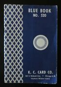 Authentic K. C. Card Co. Catalog Blue Book No. 520 W/ Casino Cheating Supplies