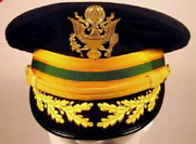 Replica Us Army Field Officer Military Police Mp Service Dress Blues Hat Cap