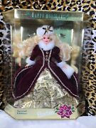1996 Mattel ❄️ Holiday Barbie Special Edition Burgundy And Gold Dress 15646 🔥nib