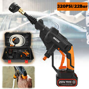 20v 320psi Portable High Pressure Spray Gun Washer Cordless Cleaner With Battery