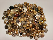 Huge Lot Of Vintage Metal Buttons Rare/uncommon