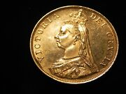 1889 Silver Great Britain 4 Shilling Double Florin Victoria Proof Like
