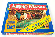 Hoyle Casino Mania Gaming Set W Vhs Cards Dice Poker Chips Learn Blackjack Craps