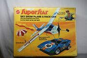 Mattel Archives Super Rare 1973 Superstar Sky Show Plane And Race Car Sealed New