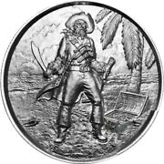 Privateer Series - 2 Oz 999 Fine Silver The Captain Ultra High Relief Round