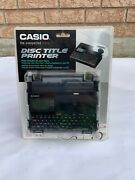 Casio Disc Title Thermal Label Printer For Cd Dvd Model Cw-k85 L New In Box