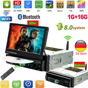 Auto Retractable 7-inch Large Screen Mp5 Car Bluetooth Player Dvd Nav Anty-theft