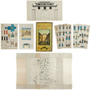 Childrenand039s Game / A Chinese Street To Be Cut Coloured And Set Up 1900