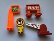 1992 Fisher Price Flip Track Rail And Road Replacement Signs Lot Of 4