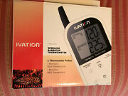 Ivation Wireless Barbeque Thermometer -2 Temperature Probes- 2 Monitors