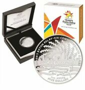 2017 Queenand039s Baton Relay Xxi Comm Games Gold Coast Fine Silver Proof Coin