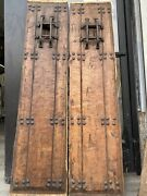 Opd Spanish Revival Style Hewn Doors Wood With Iron Hardware 66x15
