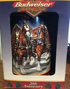Budweiser A Century Of Tradition 1999 Lidded Holiday Stein