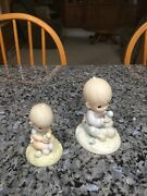 """Precious Moments Figurines. """"i Believe In Miracles"""". Lot Of 2. Excellent."""