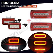 4pcs Sequential Led Tail Light Rear Fog Lamp Kit For Mercedes W463 G Class 90-15