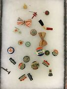 Lot Of Assorted Vintage Political Pins-red Cross
