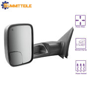 Left Driver Side Power Heated Towing Mirrors For Dodge Ram 03-08 1500 2500 3500