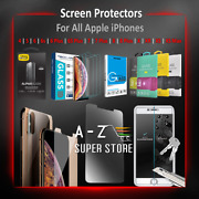 I Phone Screen Protector Tempered Glass Pack Lot For 4 5 6 7 8 X Xr Xs Max