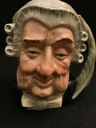 """Royal Doulton Large Toby Character Mug The Lawyer Approx 7"""" Mint"""
