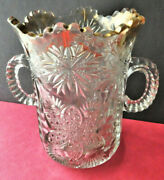Antique C. 1900 Celery Vase In Victorian Style Eapg By United States Glass Co