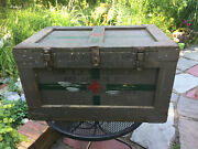 The Medicine Box Antique Trunk 1945 Navy Red Cross Medical Storage Chest
