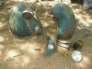 1936 Ford Car Front Fenders And Parts. Orig. Very Rusty As Is Local P/u Only