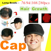 76/94/108/280pcs Lamp Beads Hat Hair Growth Oil Control Hair Loss Treat Therapy