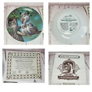 1991 Edwin M. Knowles Peek-a-whoo Screech Owls Limited Edition Plate No. 13504c