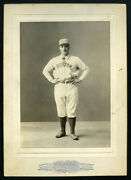 Herman Long Boston Beaneaters Card By Chickering Studios C.1890s Type1