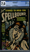 Atlas Comics Spellbound 17 Cgc 7.0 Off-white Pages