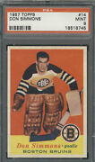 1957 Topps 14 Don Simmons Psa Mint 9 Rookie Card