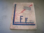 Spare Parts Catalog Accessories Car Motorcycle 1939 Bike Lausitzer Engroshaus